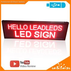 66 X 15.7inch LED Display Single Red Scrolling LED Message Sign Board Multi-Line Display -Usb Programmable