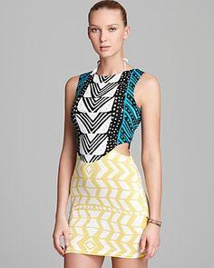 Mara Hoffman Luau Cut Out Mini Dress Swimsuit Cover Up | Bloomingdale's