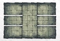 The DUNGEON PRISON, a FREE battle map for D&D / Dungeons & Dragons, Pathfinder, Warhammer and other table top RPGs. Tags: basement, dungeon, geomorph, tile, tiles, tileset, underground, jail, prison