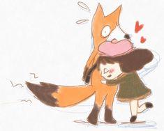 it's a Benji! or When Little Misfortune finally got to hug tha shiat out of that fox . Otaku, Little Misfortune, Fantasy Witch, Miss Fortune, A Hat In Time, Urban Legends, Cartoon Movies, Indie Games, Episode 5