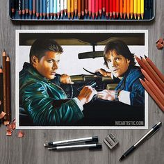 Supernatural Drawings, Movies, Movie Posters, Fictional Characters, Instagram, Art, Art Background, Film Poster, Films