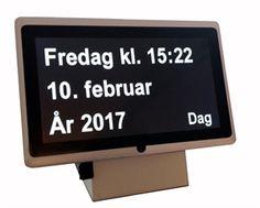 Dintido kalender-ur til personer med demens/Alzheimers