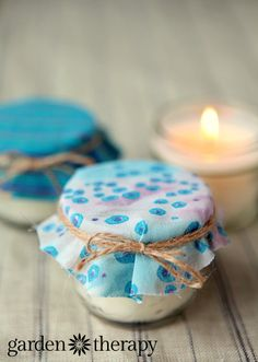 DIY soy and beeswax candles in mason jars for gorgeous handmade gifts