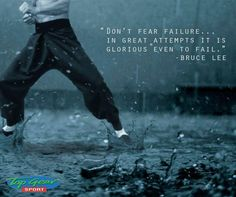 """""""Don't fear failure, in great attempts it is glorious even to fail. - Bruce Lee #TopGearSportGeorge #SundayMotivation"""