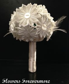 Handmade Flower Bridal Bouquet - The Supermums Craft Fair www.facebook.com/FlowersForevermore