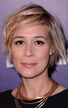 Liza Weil and her short swept DO                                                                                                                                                                                 More