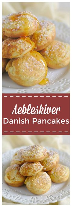Danish Aebleskiver – A fun, bite-sized classic danish breakfast! Light and fluffy pancake batter cooked in an aebleskiver pan until brown. Perfect with apple filling or drizzled with maple syrup! #aebleskiver #pancakes #danish #breakfast @mildmeandering