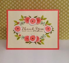 """Fanciful Florals"""" and sentiment from """"Fanciful Feathers""""WPlus9, Kathryn's cards"""