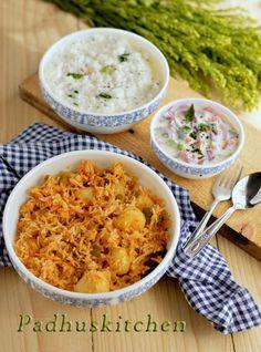 Potato Rice-Potato Capsicum Pulao-Aloo Pulao Recipe   Padhuskitchen