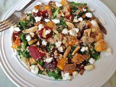 Butternut squash and Beet Quinoa Salad