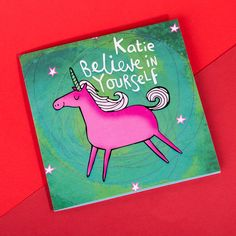 Personalised Katie Abey Card - Believe in Yourself | GettingPersonal.co.uk