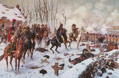 La bataille d'Eylau (8 février 1807), l'Empereur avec Murat