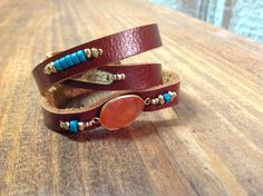 3 Wrap Leather Bracelet
