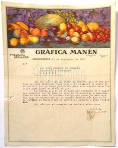 Facturas antiguas: FACTURA LOTE DE 2 FACTURAS GRAFICA MANEN LITOGRAFIA GENERAL IMPRENTA RECLAMOS. BARCELONA 1925 - 1927 - Foto 2 - 67441589