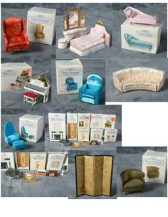 Vintage Ideal Petite Princess Dollhouse Furniture Lot
