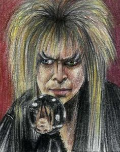 ACEO Jim Henson's Labyrinth Jareth Character Portrait Sketch Card by MIRACLE  #Miniature