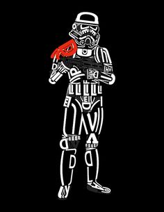 """Sanstrooper, from Fabian Gonzalez's """"May the font be with you"""" series."""