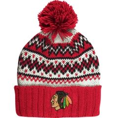 CCM Women's Chicago Blackhawks Team-Colored Cuffed Knit Hat - Dick's Sporting Goods