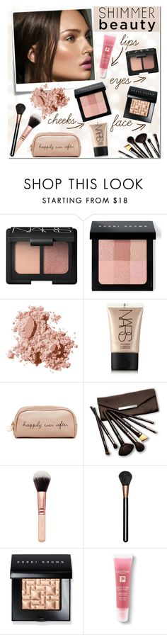 """""""Shimmer beauty"""" by bogira ❤ liked on Polyvore featuring beauty, Post-It, NARS Cosmetics, Bobbi Brown Cosmetics, Deux Lux, Borghese, MAC Cosmetics, Lancôme, BeautyTrend and Beauty"""
