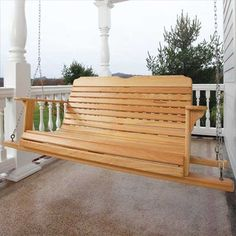 Easy-Breezy Porch Swing Woodworking Plan by Woodcraft Magazine
