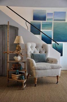LOVE this ocean art idea!  Really cool