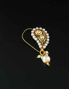 Nose Ring Jewelry, Indian Jewelry Earrings, Nose Rings, Ethnic Jewelry, Gold Jewelry Simple, Cute Jewelry, Jewelry Art, Jewellery Designs, Jewelry Patterns