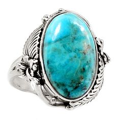 Sleeping Beauty Turquoise Native American Reproduction Silver Ring s.8 SR200805 | eBay