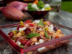 Get Tomato and Black Olive Orzo Salad Recipe from Food Network
