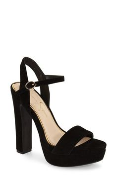 Jessica Simpson 'Blaney' Platform Sandal (Women) available at #Nordstrom I want this glitter ones!! 7 1/2
