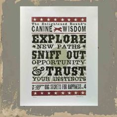 Typographic Print for Dog Owner