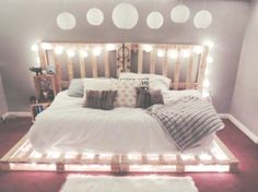 Wooden pallets and pallet furniture - pallet bed, furniture # pallet furniture - Diyprojectgardens.club - Wooden Pallets and Pallet Furniture – Pallet Bed, Furniture # Pallet Furniture - Dream Rooms, Dream Bedroom, Girls Bedroom, Bedroom Decor, Bedroom Ideas, Bedrooms, Bed Ideas, Design Bedroom, Master Bedroom
