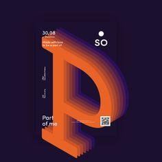 "via Muzli design inspiration. ""Mind blowing posters"" is published by Muzli in Muzli - Design Inspiration. Typo Poster, Typography Poster Design, Typographic Poster, Graphic Design Posters, Graphic Design Inspiration, Web Design, Type Design, Layout Design, Logo Design"