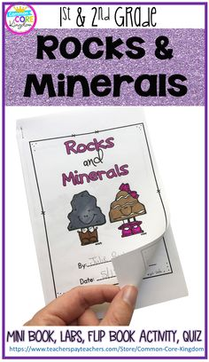 Are you looking for a fun and engaging way to teach your 1st and 2nd graders about rocks and minerals? This fun unit includes vocabulary cards, a mini book, foldable activities, 3 lab experiments, and a quiz.