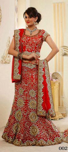 Ravishing Red Indian Bridal Lehenga Choli | Saris and Things