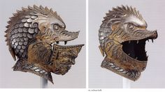 Grotesque helmet and other parade helmet