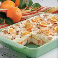 Orange angelfood cake