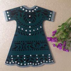 Wood painting wood object green kaftan ahsap boyama dekoratif obje handmade design