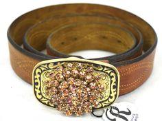 Custom Belt Buckle - Vintage Brooch - Belt Buckle - Wyoming Bright 119.99 by…