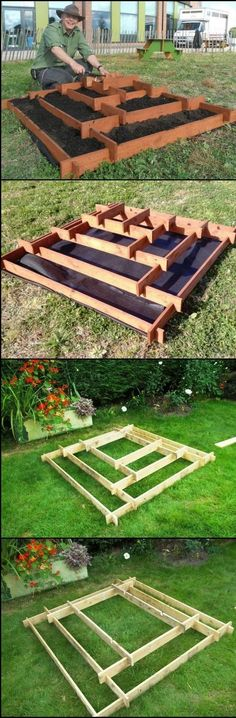 How To Make A Slot Together Pyramid Planter theownerbuilderne. Pyramid planters are great for growing various plants especially if you don't have a lot of space in your garden or (Diy Garden Planters) Diy Garden, Garden Planters, Garden Beds, Garden Landscaping, Garden Pallet, Recycled Planters, Landscaping Ideas, Outdoor Planters, Garden Crafts