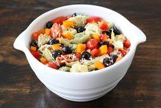 Easy Tortellini Salad on twopeasandtheirpod.com