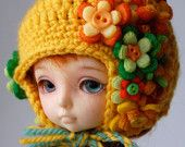 Itsy Bitsy Hat - Brazil (Pukifee / Lati Yellow crochet hat)