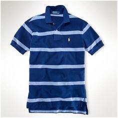 13ccdf7046d3dc ralph lauren paris! Polo Ralph Lauren particulière hommes Classic-Fit Large  Polo rayé bleu foncé