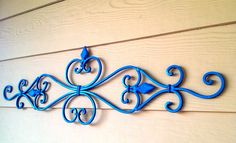 wrought iron wall art colorful - Google Search