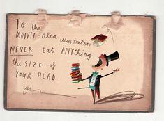 Oliver Jeffers: Jamás comas nada del tamaño de tu cabeza.