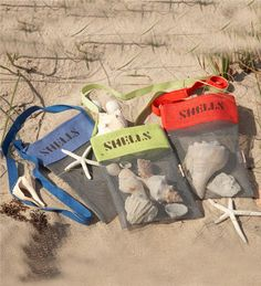 Main image for Mesh Material Shell-Collecting Bags with Shoulder Strap