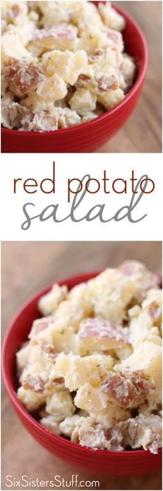 Red Potato Salad from Six Sisters' Stuff is the perfect side dish! So easy and so delicious!