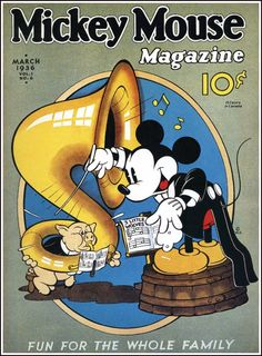 A cover gallery for the comic book Mickey Mouse Magazine Retro Disney, Vintage Disney Posters, Vintage Comic Books, Vintage Cartoon, Vintage Comics, Vintage Mickey, Cartoon Posters, Retro Cartoons, Old Cartoons