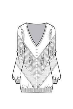 A/W 15/16 Design Direction: Womens Knitwear key items slouchy v neck