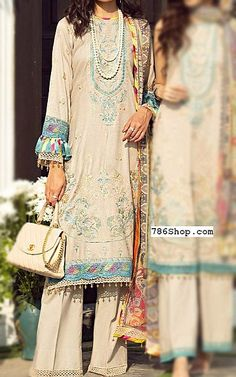 Beige Lawn Suit   Buy Rang Rasiya Pakistani Dresses and Clothing online in USA, UK Pakistani Lawn Suits, Pakistani Dresses, Fashion Pants, Fashion Dresses, Rang Rasiya, Suits Online Shopping, Add Sleeves, Buy Rings, Lawn Fabric
