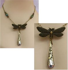 Burnished Gold Dragonfly Necklace  http://cgi.ebay.com/ws/eBayISAPI.dll?ViewItem=151022954365